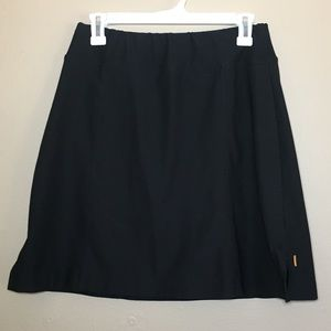 Lucy black knit athletic outdoor casual skirt